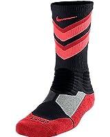 Nike Hyper Elite Chase Basketball Crew Socks Black/Lava SX4923-068