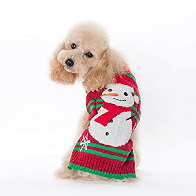 DOGGYZSTYLE Christmas Pet Clothes The Stripe Snowman Sweater The Cat Dog Sweater Pets Jacket Dogs Apparel by YIWU KUCHONG E-commerce Firm