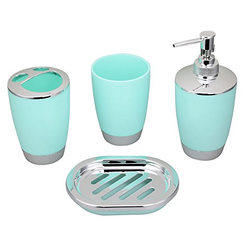 Bluelasers bath countertop accessory set soap dispenser for Bath countertop accessories