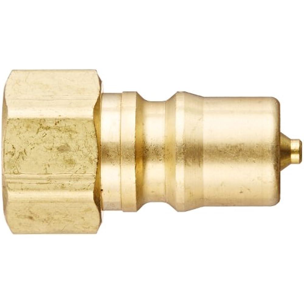 Eaton Hansen B2K16 Brass ISO-B Interchange Hydraulic Fitting Plug with Valve 1//4 Body 1//4-18 NPTF Female