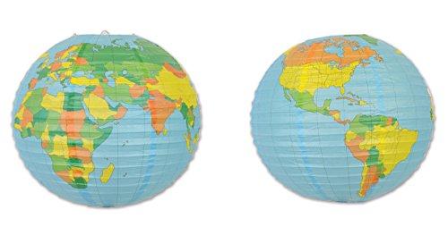 Beistle 54754 2Piece Globe Paper Lanterns, 15.5