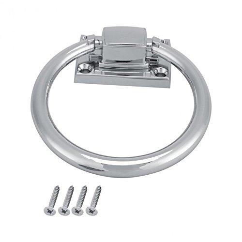 Door Handle Door Pull Ring Knob Shiny Silver Drop Pull Ring Wooden Door Knocker Chair Pulls Handle 111x56x38MM