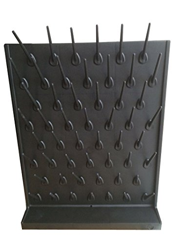 Black Color Wall Mount or Desk Top Drying Rack PP 52 Pegs La