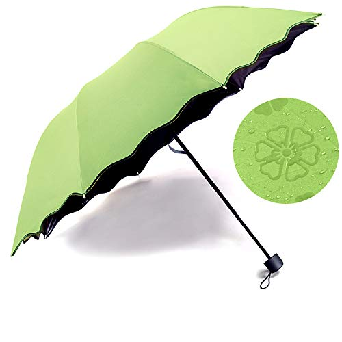Handle Rainforest Green - Sun Umbrella/Umbrella/Compact Parasailing with Windproof Reinforced Double Awning Structure Ergonomic Handle for Travel Hiking Mountaineering Rainforest Beach,Green
