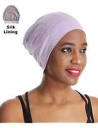 67937d6a520 Premium Sleep Cap Beanie Slap Hat – Satin Silk lined