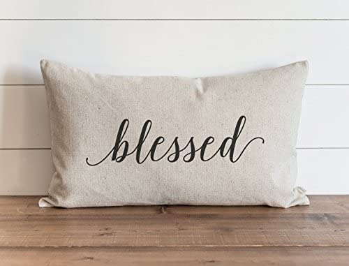 Carolju Blessed 16 X 26 Inch Pillow Cover Fall Autumn Thanksgiving Throw Pillow Gift For Her Accent Pillow Home Kitchen Amazon Com