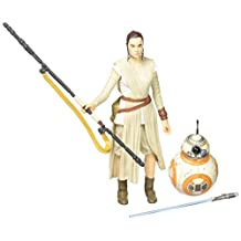 Star Wars The Black Series 6-Inch Rey (Jakku) and BB-8 with Lightsaber by Star Wars