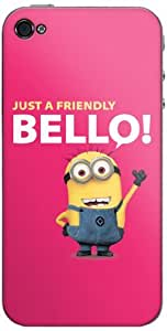 Zing Revolution MS-DMT380133 Despicable Me 2 - Red Bello Cell Phone Cover Skin For iPhone 4/4S - Retail Packaging - Multicolored