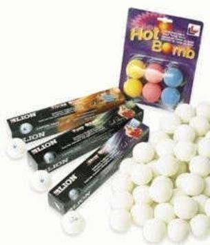 New Table Tennis 6 Balls 'hot Bomb' Ping Pong Match Balls Assorted Colours by OSG by OSG