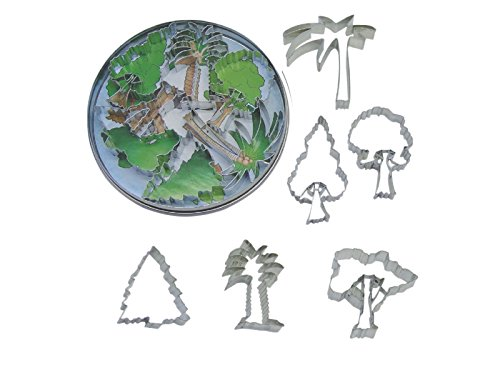R&M International 1808 Tree Cookie Cutters, Assorted Designs, 6-Piece Set