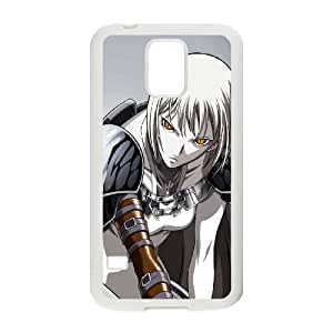 claymore manga Samsung Galaxy S5 Cell Phone Case White PSOC6002625743113