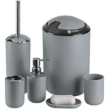 bathroom accessories setimavo 6 pcs plastic toothbrush holdertoothbrush cupsoap dispenser - Bathroom Accessories Set