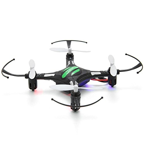 Iusun JJRC H8 Mini 2.4G 4CH 6 Axis RTF RC Quadcopter Led Night Lights CF Mode with Battery, USB Charging Cable, Spare Propeller, Landing Skid Dampinig Ball (Black) by Iusun