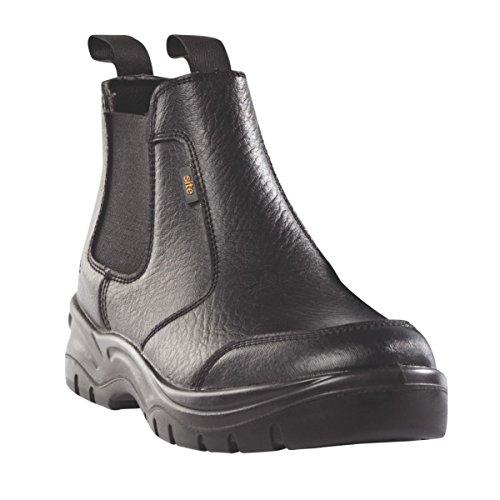 Baustellen schlacke Chelsea Sicherheit Stiefel Schwarz Größe 6