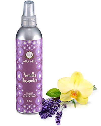 Aira Mist Vanilla Lavender Organic Room Spray - Essential Oil Spray with Organic Ingredients & Therapeutic Essential Oils - Living Room Spray Free of Alcohol & Parabens -Home Fragrance - (Extreme Vanilla Extract)