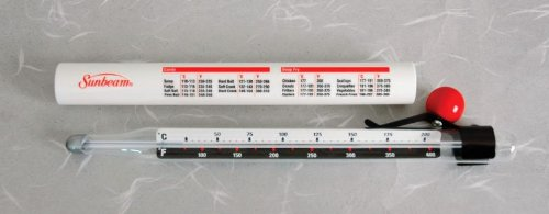 (Sunbeam Candy Thermometer - Fahrenheit and Celsius - 8 Inch)