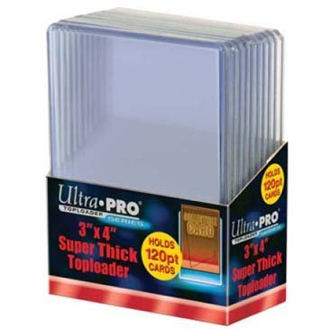 2 Ultra Pro 120pt Top Loader 20 Total (2 10ct Packages) 120 Pt for Thick Jersey Relic Cards