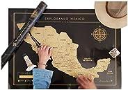 Mapa México Rascable, Scratchmap pueblos mágicos, mapa para rascar, regalo Viajeros