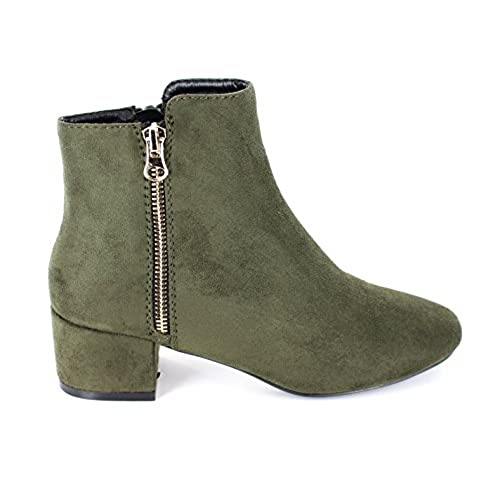 Women's Zipper Gray Ankle Booties US 10