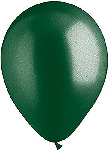 """Custom, Fun & Cool {Big Large Size 12"""" Inch} 48 Pack of Helium & Air Inflatable Latex Rubber Balloons w/ Unique Christmas Holiday Accent Metallic Forest Tone Solid Opaque Design [Dark Green] (Christmas Decorations Big W)"""