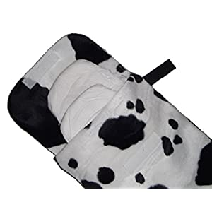 Baby Cow Faux Fur Nappy, Diaper & Wipes Case – Changing Bag