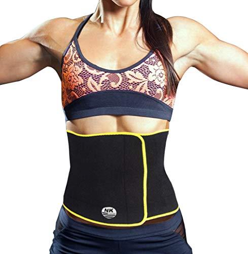 SAYFUT Waist Trimmer Weight Loss Ab Belt Premium Stomach Fat Burner Wrap Waist Trainer