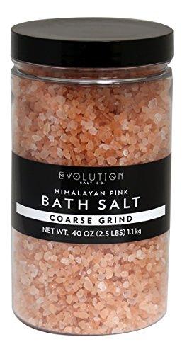 Himalayan Spa Salt Crystals - Evolution Salt Bath Crystal Himalayan Salt Coarse Grind 40 oz
