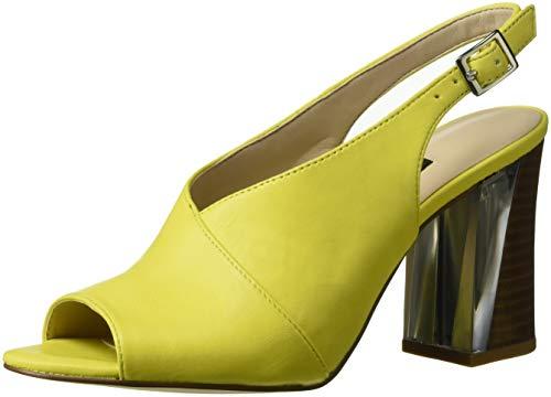 Nine West Women Morenzo Leather Heeled Sandal Yellow