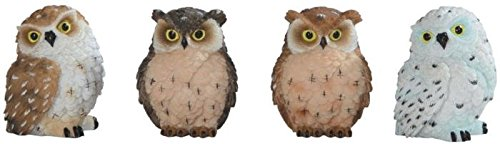 2 Owl Figurines - George S. Chen Imports SS-G-54281 Imports Owl Figurines (Set of 4), 2