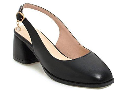 Sandalias Verano Compras 41 Cuadrados hebillas Black White 34 5cm 40 zapatos De diario Sandalias Xie 35 Trabajo FqwHxYd0F