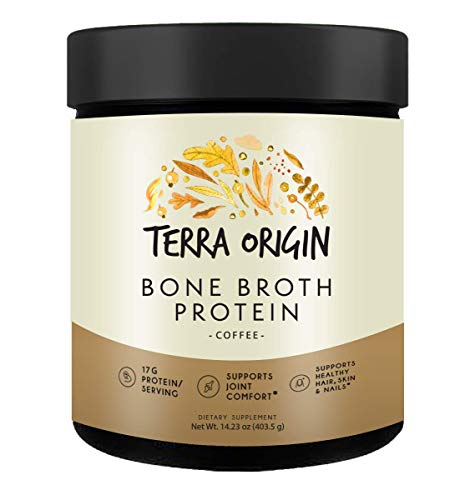 Bone Broth Protein Powder, Coffee, 15 Servings, 17G Protein, Natural Collagen from Real Whole Food Sources - Supports Joint Comfort and Cartilage Health