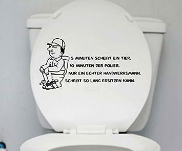 Wc Deckel Aufkleber Handwerker Toiletten Lustig Spruch Badezimmer