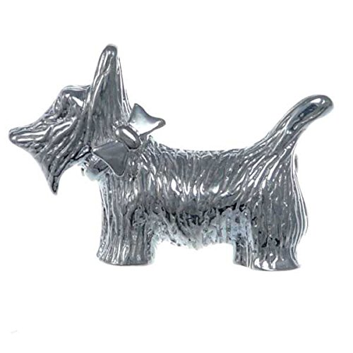 Terrier Dog Brooch Pin - Sterling Silver Scottish Terrier Dog Brooch - Scottie Dog Pin