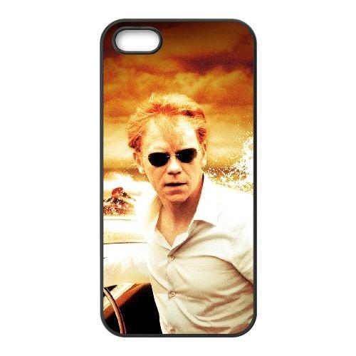 Csi Miami 2 coque iPhone 5 5S cellulaire cas coque de téléphone cas téléphone cellulaire noir couvercle EOKXLLNCD23007
