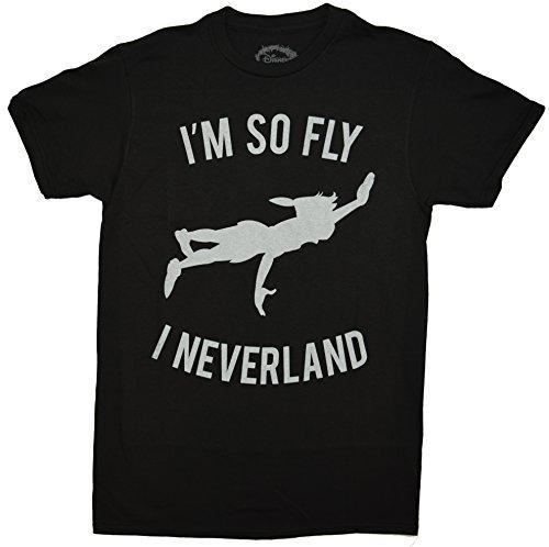Disney Peter Pan So Fly I Neverland Mens T-shirt