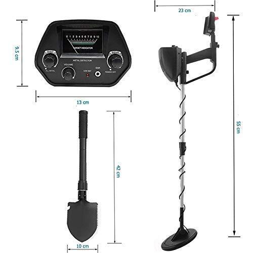 McDoo 3 en 1 D/étecteur de M/étaux Professionnel-Haute Pr/écision Metal Detector Portable ALL M/étal// DISC// Sensible Bobine Pinpoint /Étanche// Tige R/églable// Pelle// Casque