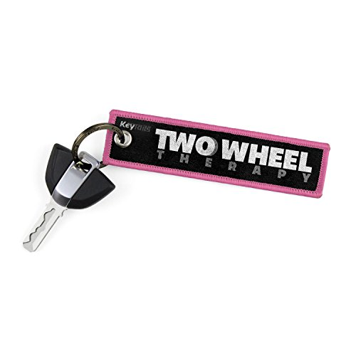 (KEYTAILS Keychains, Premium Quality Key Tag for Motorcycle, Scooter, ATV, UTV [Two Wheel Therapy])