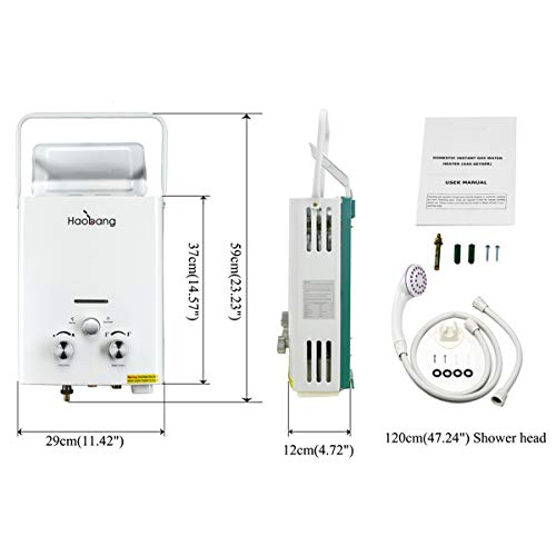 Haobang Sin tanque calentador de agua Gas instantáneo JSD12-J6 6L/Min 12KW (LPG) propano o butano: Amazon.es: Bricolaje y herramientas