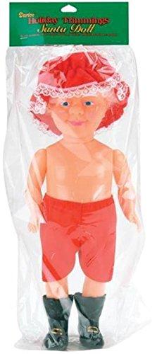 Darice, 13 Inch, Plastic Mrs. Claus Doll, Flesh, 13