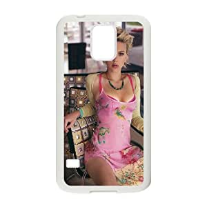 Scarlett Johansson SANDY0077177 Phone Back Case Customized Art Print Design Hard Shell Protection SamSung Galaxy S5 G9006V