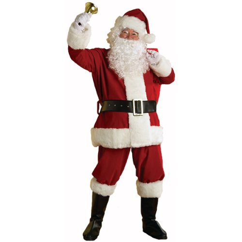 Rubie's Regal Plush Santa Suit,Red/White, Large