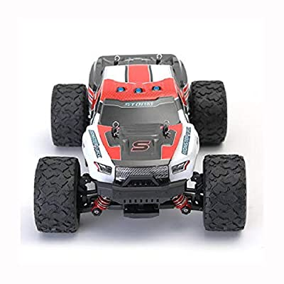 K&A Company RC Car, HS 18301/18302 1/18 2.4G 4WD High Speed Big Foot RC Racing Car Off-Road Vehicle Toys, Red