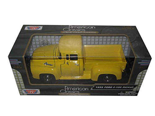 1955 Ford F-100 Pickup Truck Yellow 1/24 by Motormax 79341