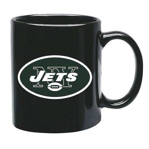- Memory Company New York Jets 15 oz Black Ceramic Coffee Cup
