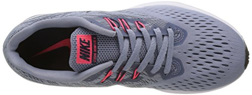 Nike Wmns Zoom Winflo 4, Scarpe Running Donna Multicolore (Glacier Grey/Obsidian/Armory Blue)