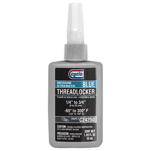 Cyclo ULTRAWELD Blue Medium Strength Anaerobic Threadlocker, 1.69 fl oz (50 ml), Case of 6