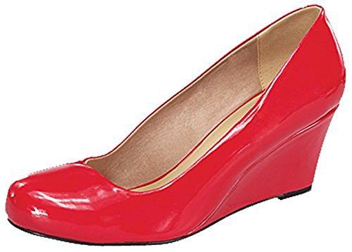 Forever Doris-22 Wedges Pumps-Shoes mve Shoes Doris 22 RED PAT Size 8