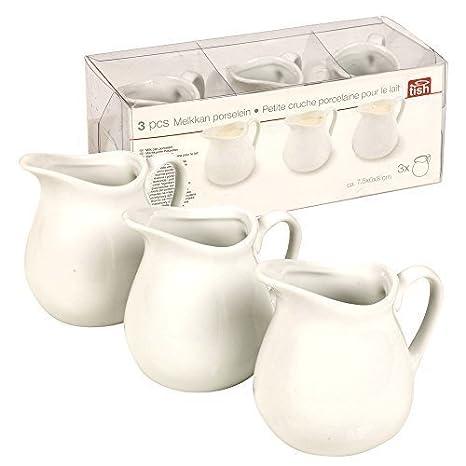 3piezas de jarra de leche de porcelana para crema, salsa, sauce, ensalada y Condimentos: Amazon.es: Hogar