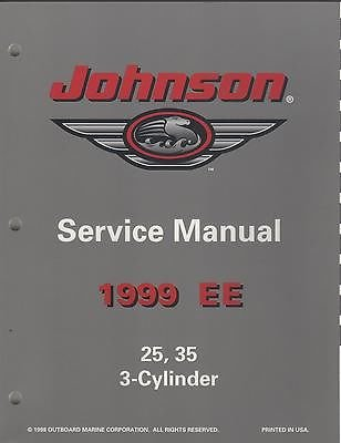 1999 JOHNSON OUTBOARD EE 25, 35, 3-Cylinder P/N 787029 SERVICE MANUAL (897) ()