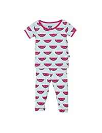 More buying choices for KicKee Pants Print Short Sleeve Pajama Set, Watermelon, 2T